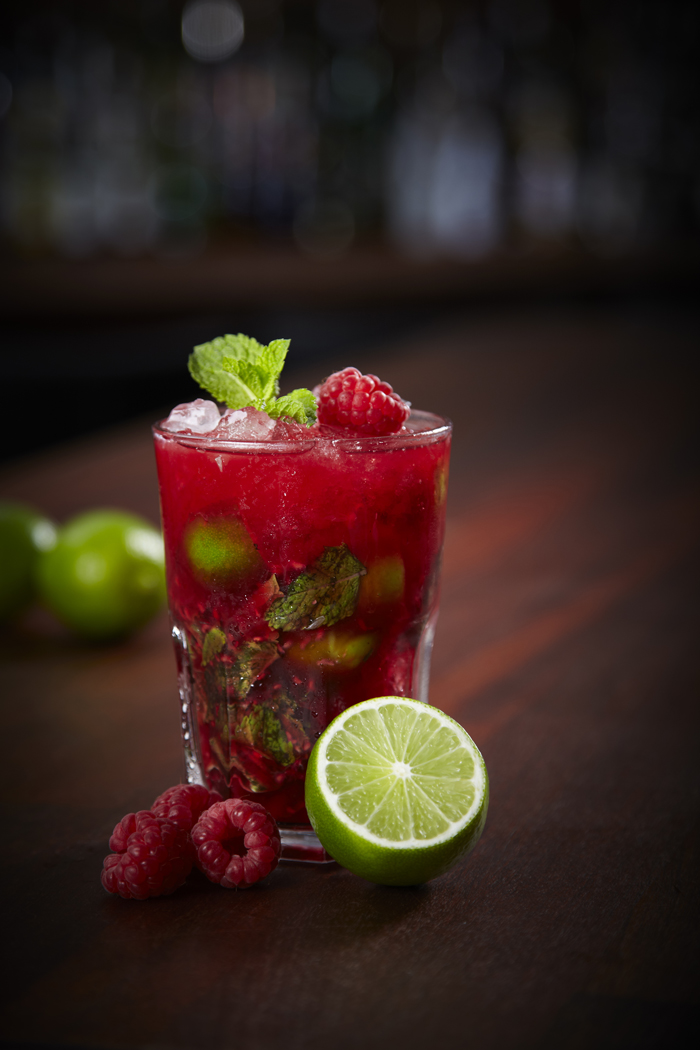 Raspberry Smash Mocktail