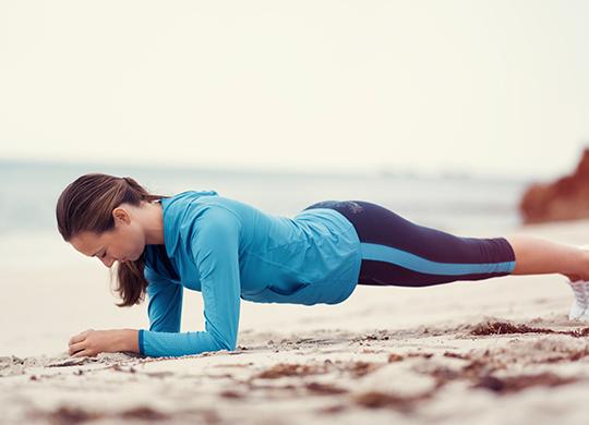 Beach Workout Army Crawl