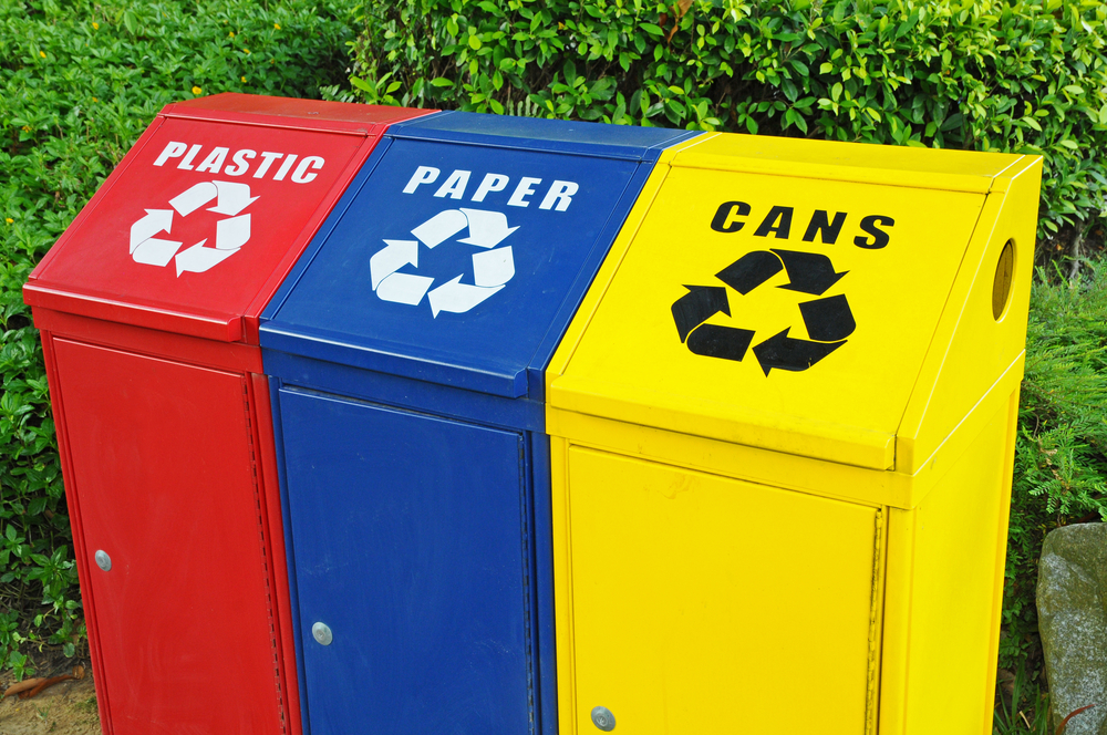 community recycle bins