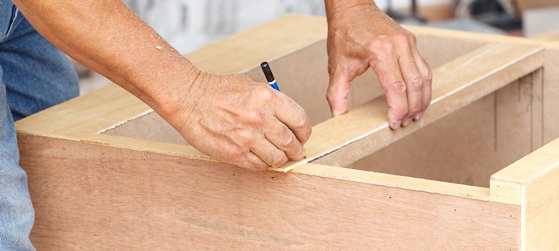 sanding kitchen cabinets