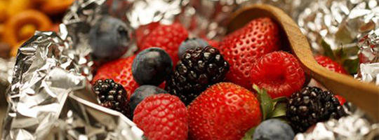 grilled berries