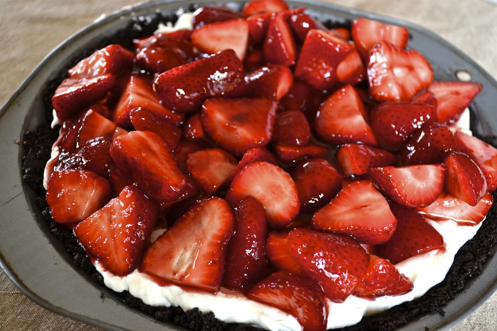 strawberry no bake