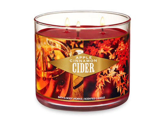 Apple cider is the last of our fall scents.