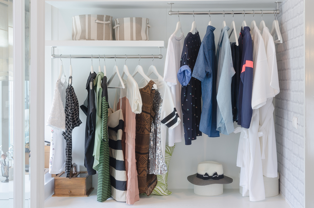 double rack closet