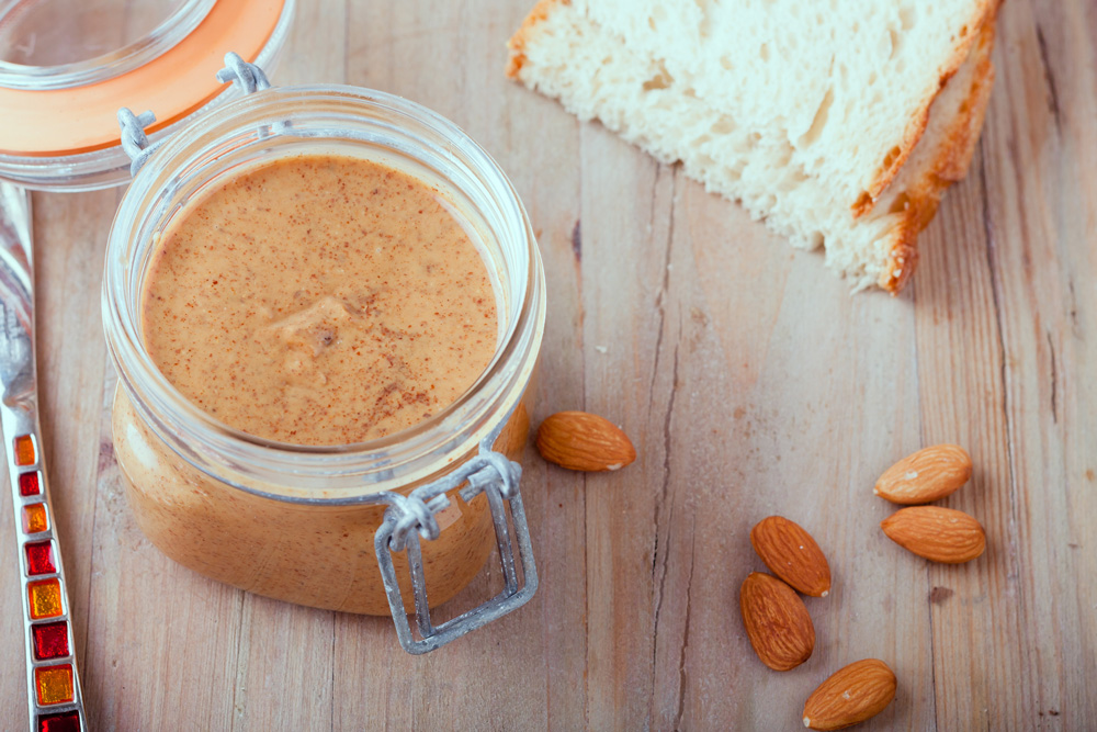 Almond butter is a healthy alternative to peanut butter.