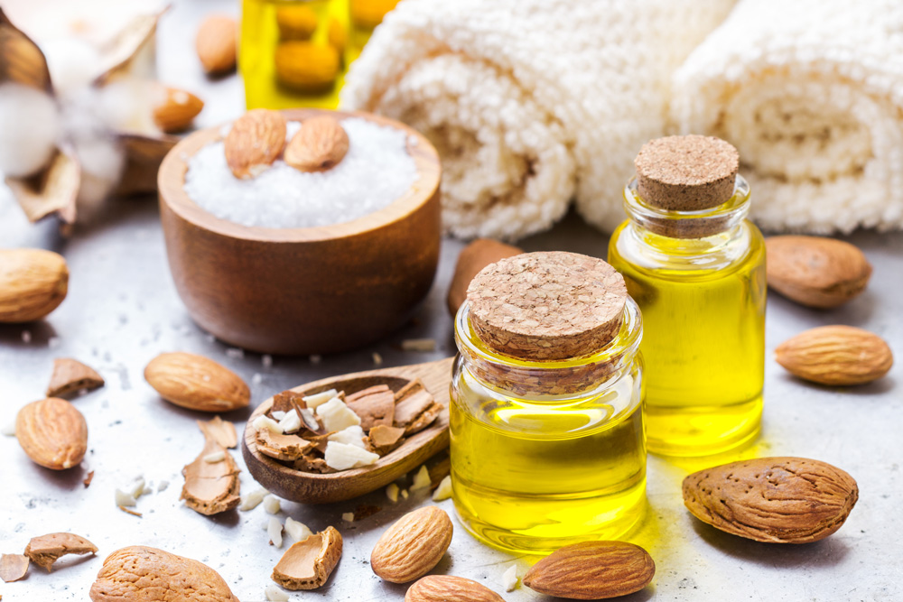 Almond oil is great for skin and hair.