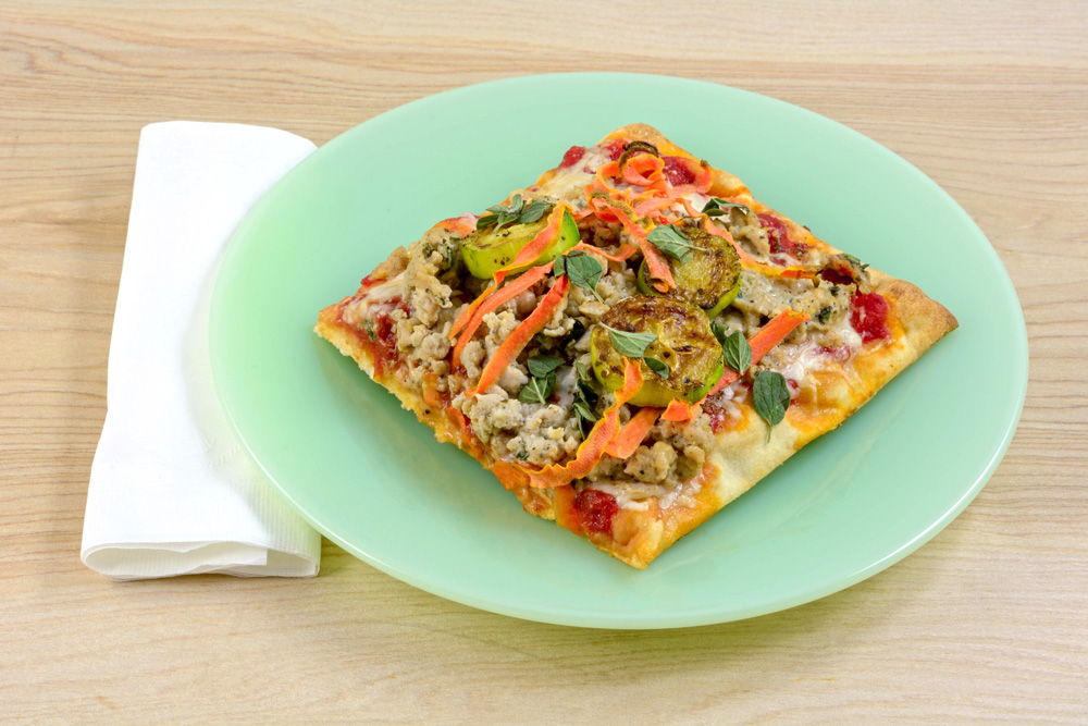Chicken Sausage Flatbread Pizza