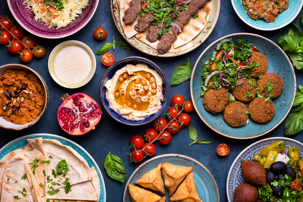 Middle Eastern flavors are a top food trend this year.