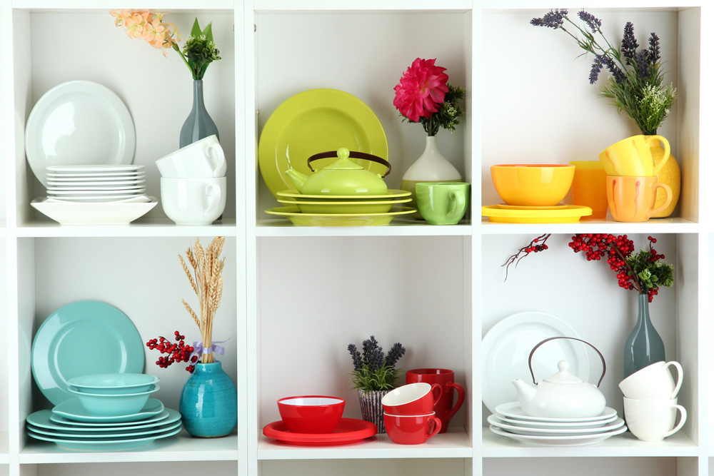 Color Your Kitchen happy with bright dishes