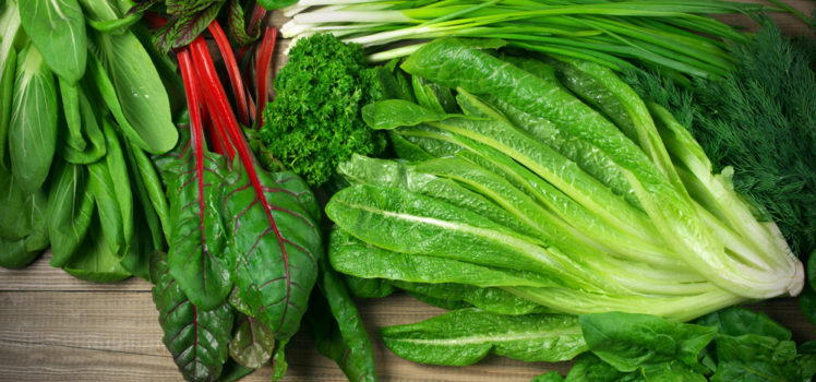 Tender leafy greens provide the fresh flavors of spring.