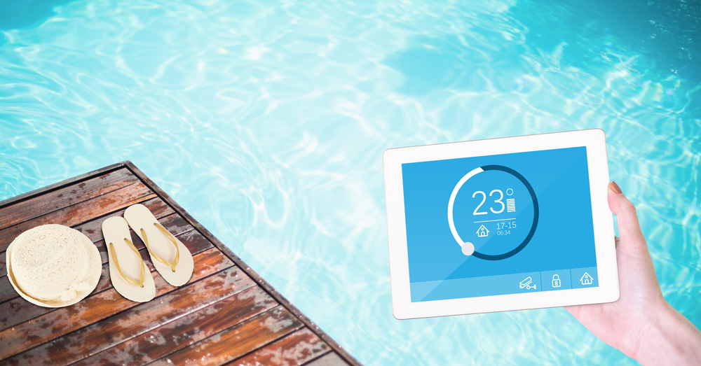 Smart pool technology lets you control temp from a mobile device