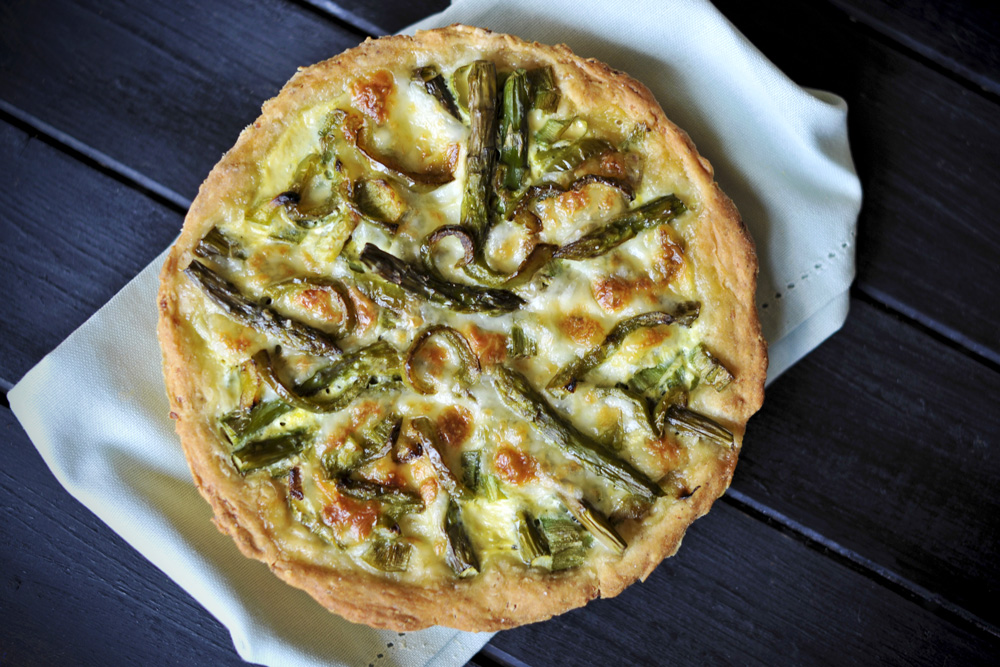 Asparagus and Brie make a wonderful quiche