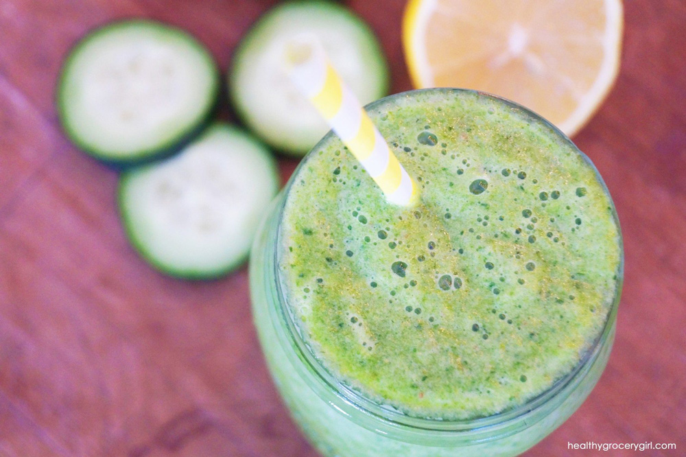 Green juice slushs are healthy