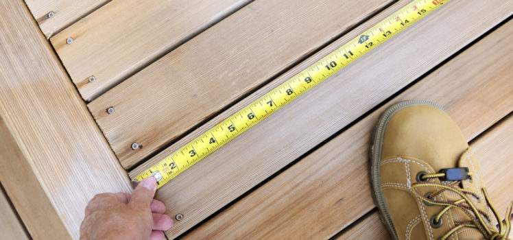 Measure carefully when you build a deck on your home.