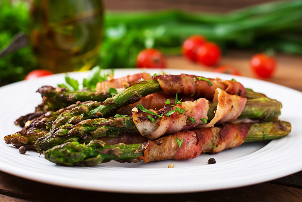 Bacon wrapped asparagus is perfect for grilling