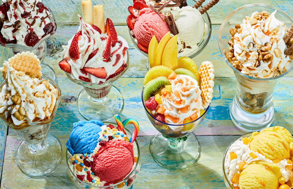 Creativity rules at ice cream parties