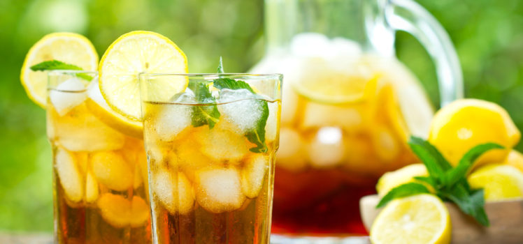 Iced tea is a great summer beverage option.
