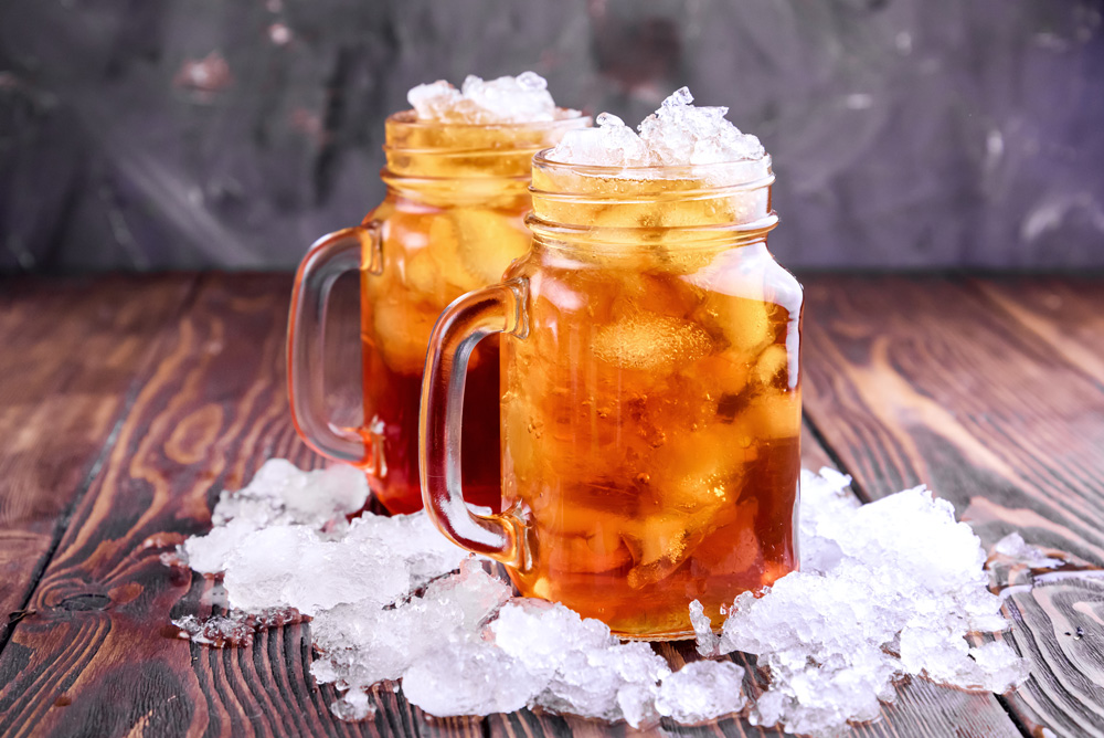 Iced tea beverages are economical and versatile