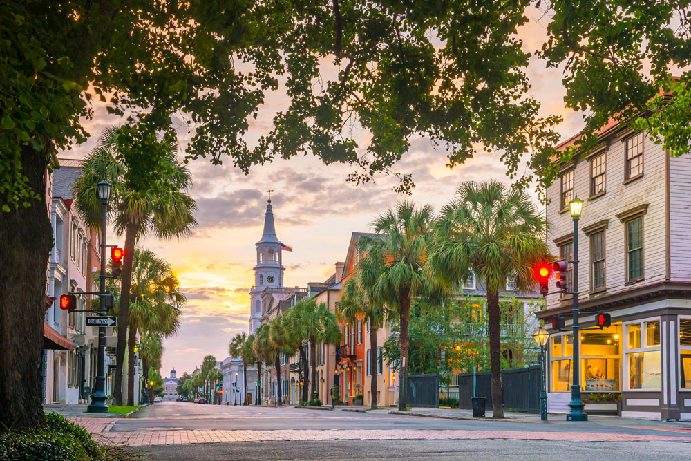 Visit Charleston, SC on a southeastern road trip