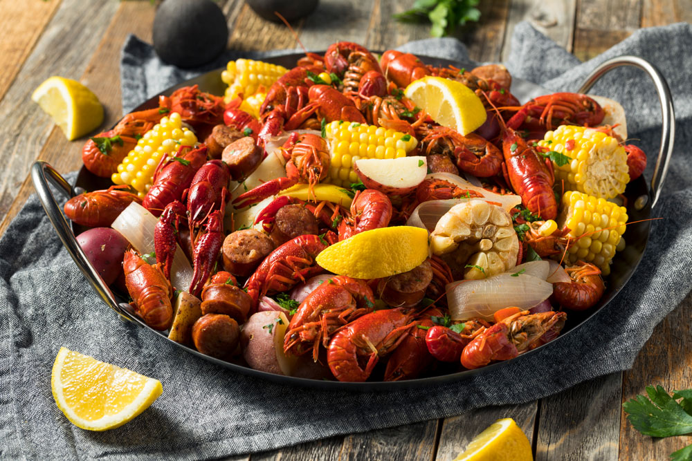 Seafood boil block party