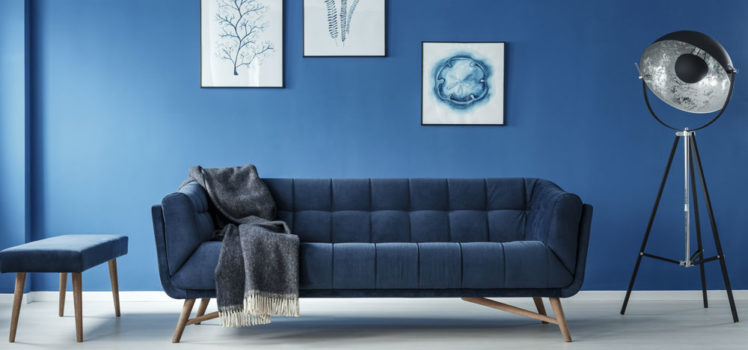 Shades of blue are part of bold fall decorating trends.