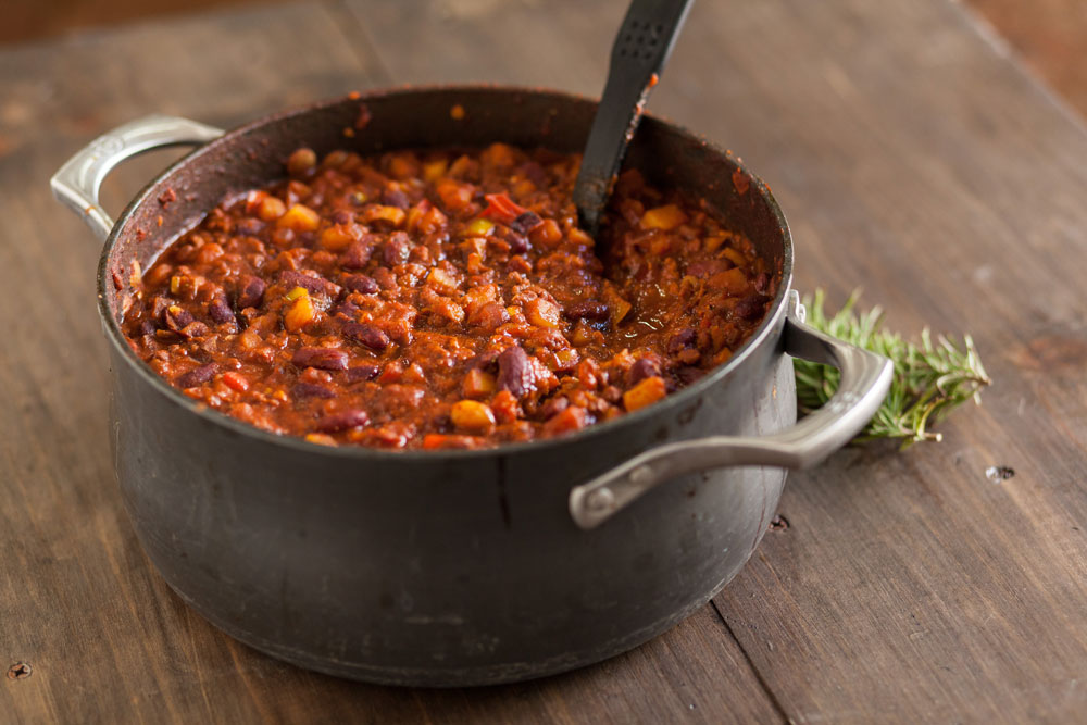 Try vegetarian chili for a flavorful healthier alternative.