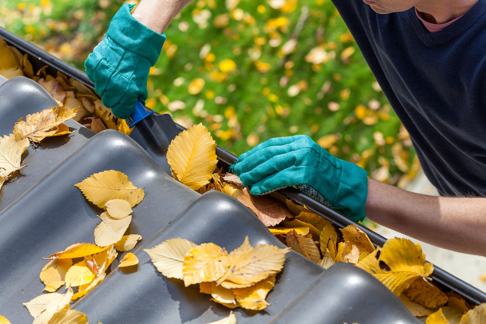 Gutters are an important part of fall cleaning.