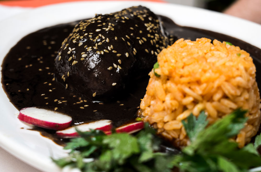 Black mole is delicious for el dia de los muertos