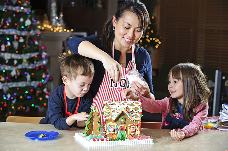 Build a gingerbread house this season